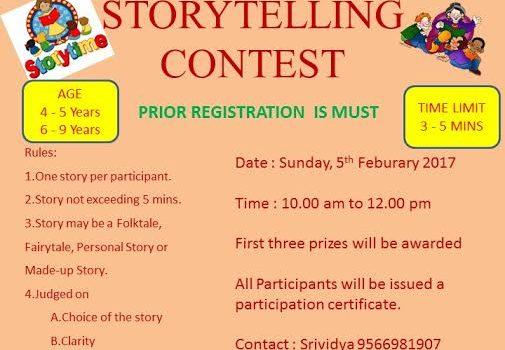 Chennai Storytelling Festival-2017 : Storytelling Contest