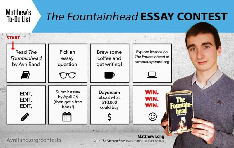 ayn rand fountainhead essay contest 2011 As the moment of truth approached, john thorpe, a law school student at arizona state university, tried to forget about the atlas shrugged essay contest he entered in early 2015.
