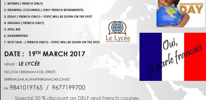 Francophonie Day Celebration Competitions at LeLycee