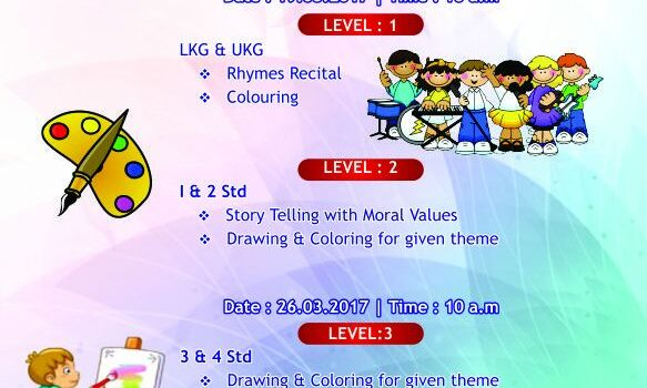 Republica -17 Kids Contests at Sembakkam on March 19 & 26