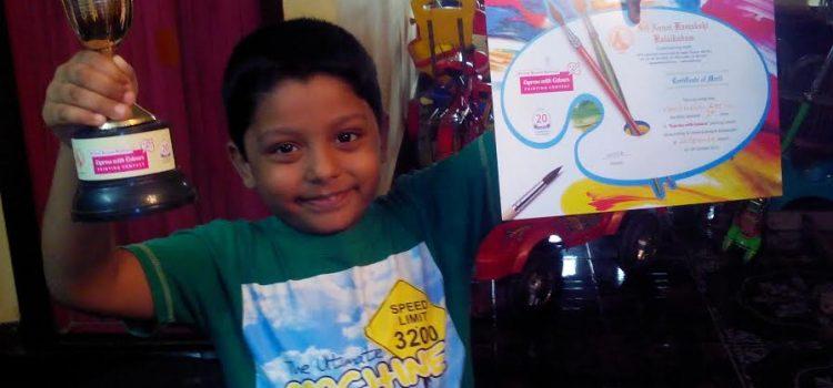 K.Venugopal Raj : Tiny Talent from SBOA School & Jr College, Chennai
