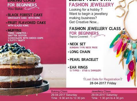 Baking and Fashion Jewellery Workshop at T. Nagar