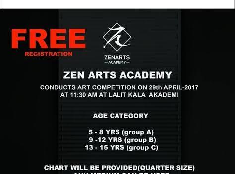 Zen Arts Academy Arts Competition on April 29, 2017 at Lalit Kala Akademi