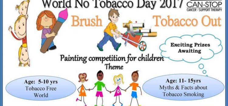 CAN STOP World No Tobacco Day Painting Competition for Children 2017
