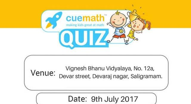 Quiz Contest on July 9 at Saligramam