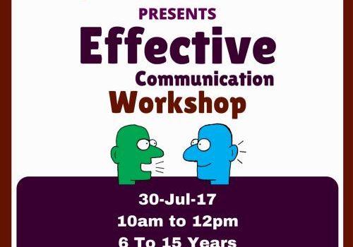 Effective Communication Workshop for Children – 30-Jul-17
