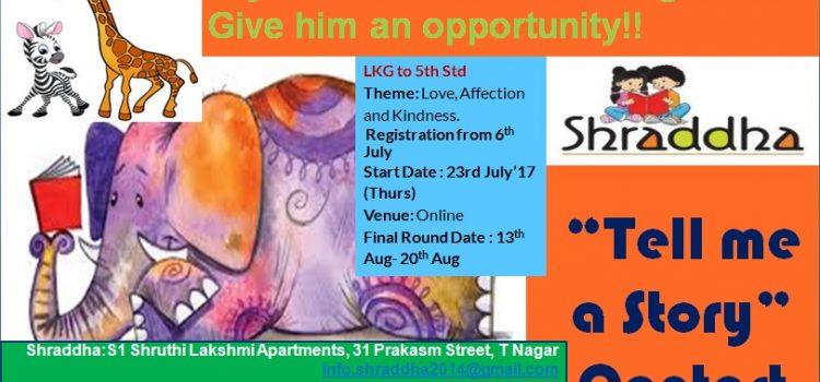 Shraddha Tell me a Story Contest