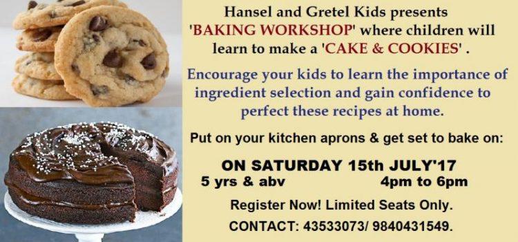 BAKING Workshop at Hansel n Gretel kids