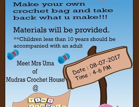 Crochet Workshop @ KK Nagar on 8/7/17