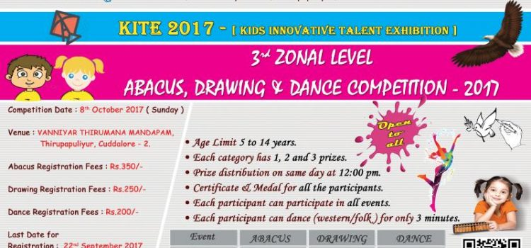 3rd Zonal Level ABACUS, DRAWING & DANCE Competition 2017
