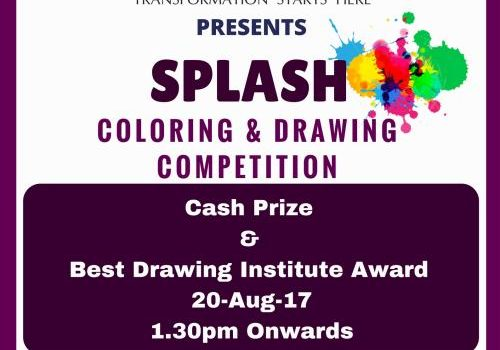 Splash – Coloring & Drawing Competition – 20-Aug-2017