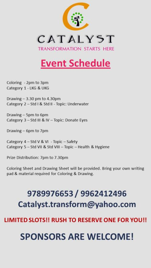 Splash Coloring Drawing Competition 20 Aug 2017 Kids