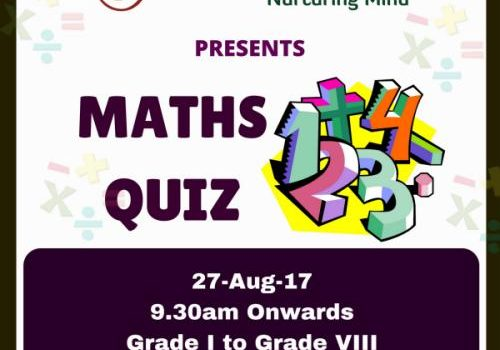 WSLR Club & Activity Centre Maths Quiz on Aug 27