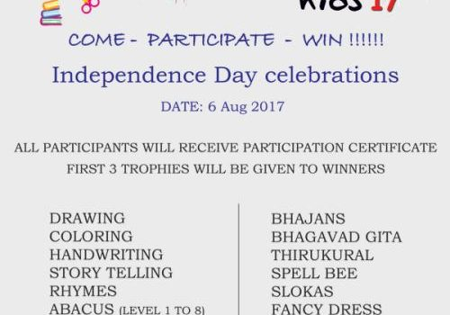 CREATIVE KIDS '17 Independence Day Celebrations & Contests