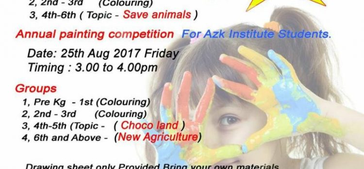 AZK Institute Annual Painting Competition 2017