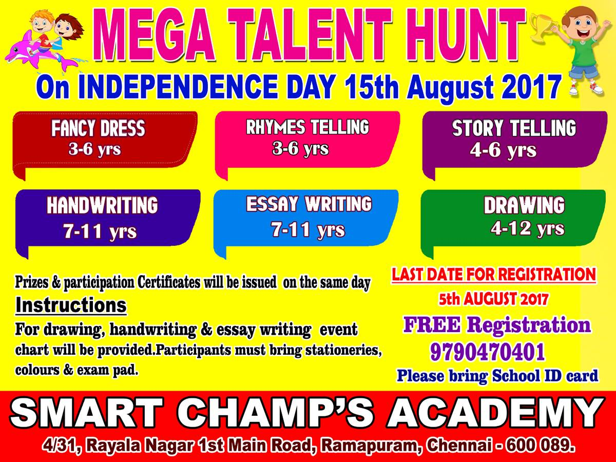 thepinkdolphins mega talent hunt on kids contests for more details please contact 9790470401