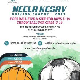 NEELA KESAV ROLLING TROPHY TOURNAMENT for Football & Throw ball