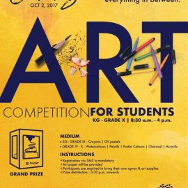 CANVAS – 2017 – Painting Competition for Students between KG – Gr.X on 2nd October 2017