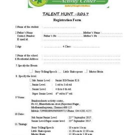 Talent Hunt-2017 by Bamboo Shoots Activity Center