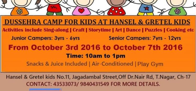 Dussera Camp for Kids at Hansel and Gretel Kids