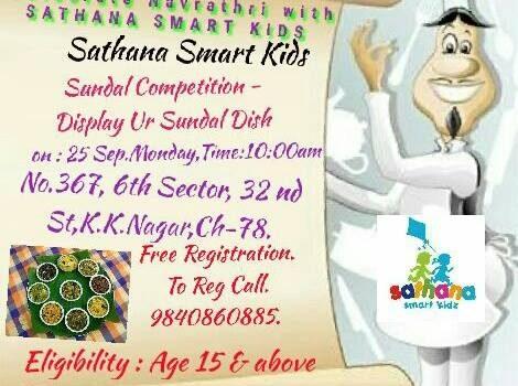 Navaratri Sundal Competition on 24th September