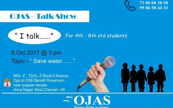 OJAS – TALK SHOW for Kids Studying 4th to 8th Std