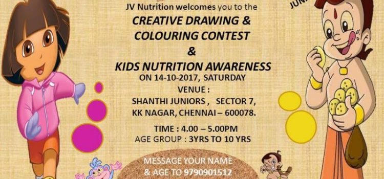Creative Drawing & Colouring Contest on 14.10.2017 at KK Nagar