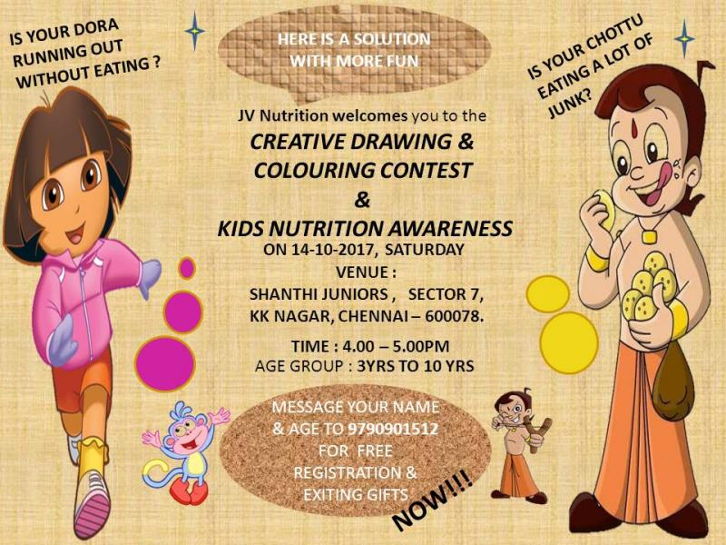 venue shanthi juniors sector 7 k k nagar chennai time 4 to 5 pm age 3 to 10 years creative drawing colouring - Drawing And Colouring