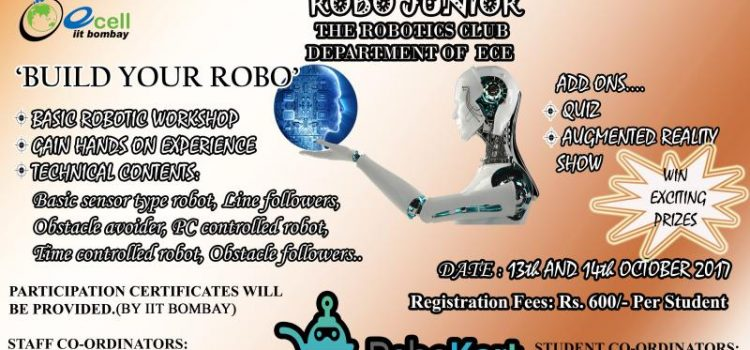 ROBO JUNIOR Workshop for 9th to 12th Standard Students