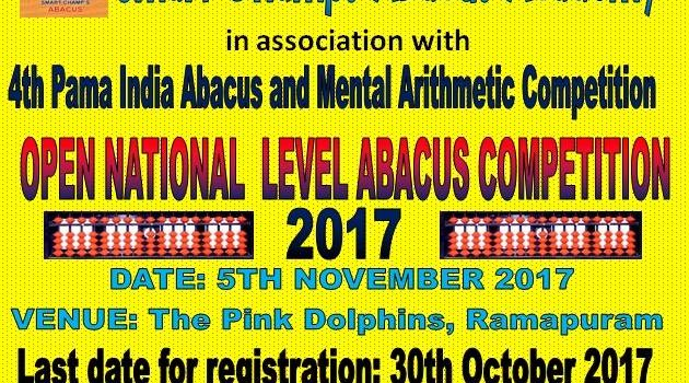 4th National Level Abacus Open Competition @Ramapuram