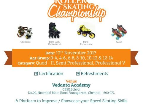 Roller Skating Championship on Novermber12,2017 at Vedanta Academy
