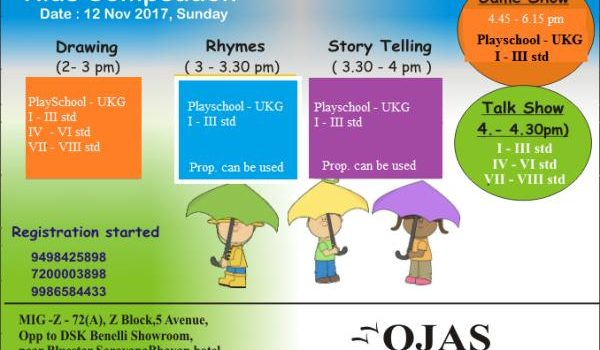 Ojas Play School Nov 12, 2017 Kids Competitions
