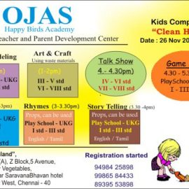 """""""Clean House""""26th – Nov- 2017(Sunday) : Competition for Kids"""