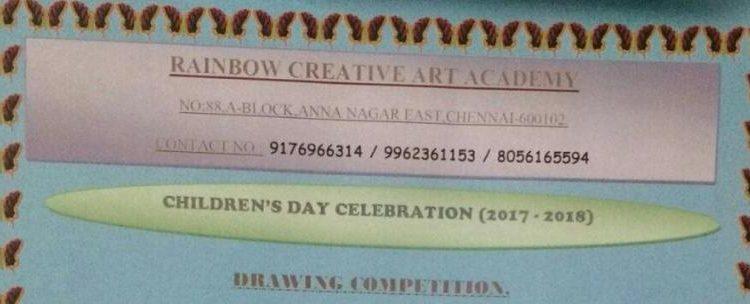 RAINBOW CREATIVE ART ACADEMY Drawing Competition on Nov 26, 2017