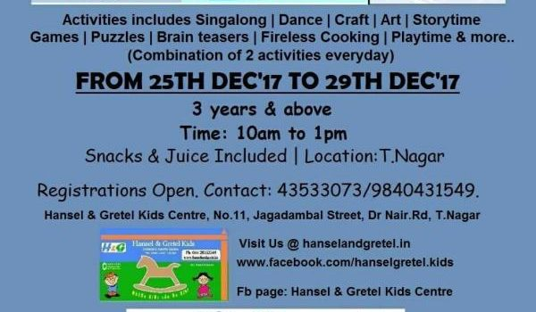 Winter camp for Kids at Hansel and Gretel