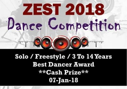 Zest 2018 – Dance Competition – 7-Jan-2018