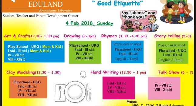 4 Feb 2018 , Kids Competitions @ Ojas Eduland , Anna Nagar , Chennai