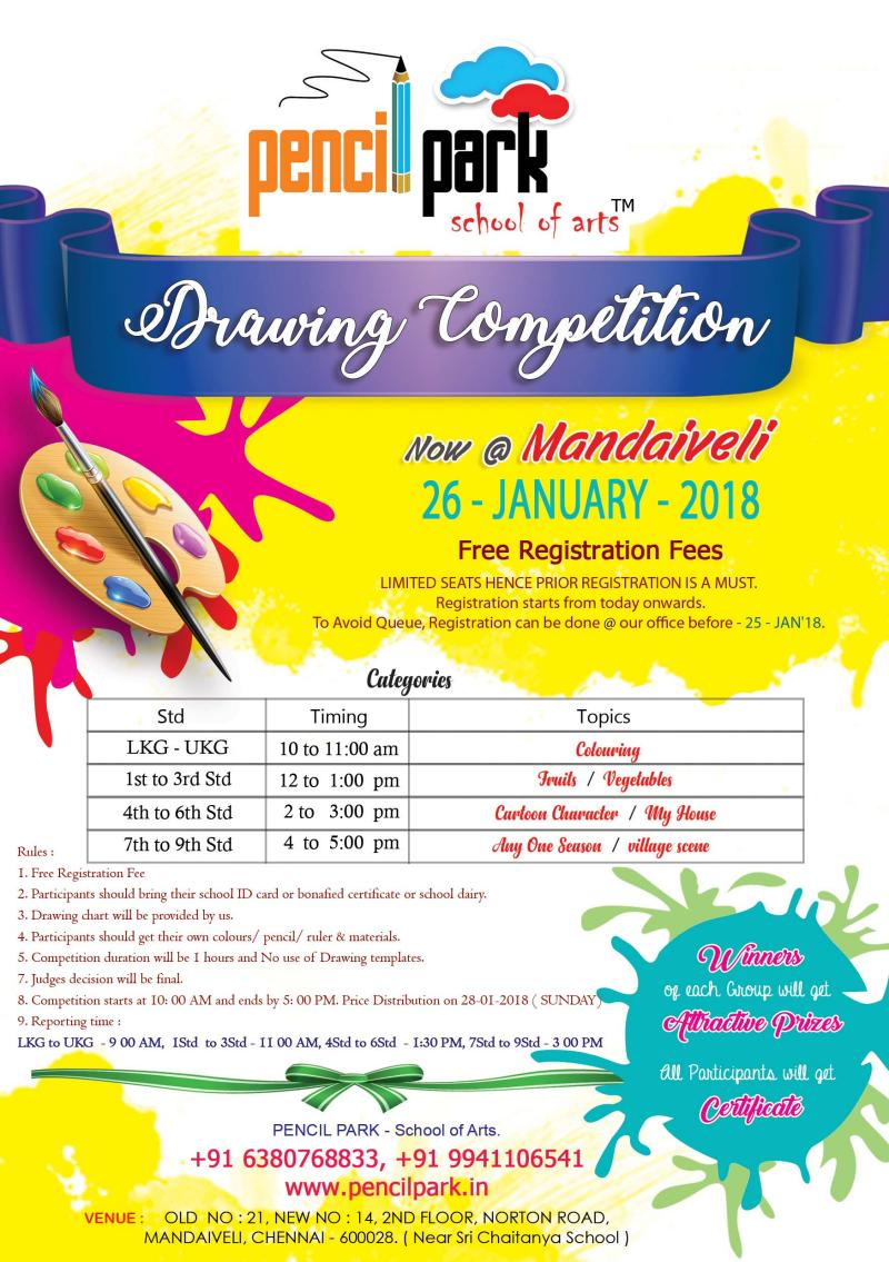 Drawing competition in mandaiveli on january 26 2018