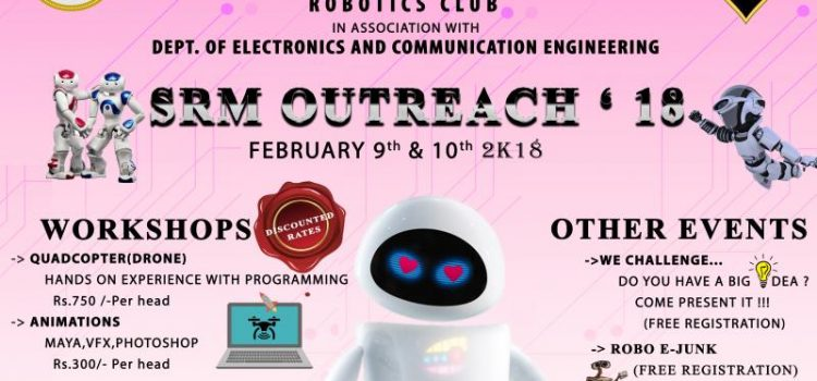SRM OUTREACH'18 Robotics Workshops