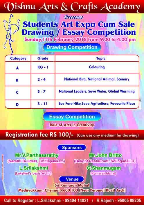 drawing competition essay A two-day inter-school essay writing & drawing competition was held on 13 & 14 october 2010 all the major schools of karachi participated in the contest.