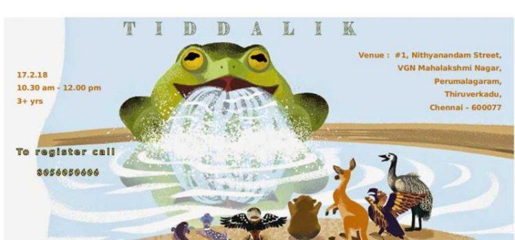 "Aboriginal Tale "" Tiddalik"" on 17.02.18 Story Telling"