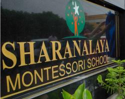 Sharanalaya Montessori School, Sholinganallur Admission 2018-19