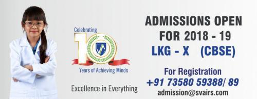 Sri Vidhya Academy International Residential School, Sokkanallur Admissions 2018-19