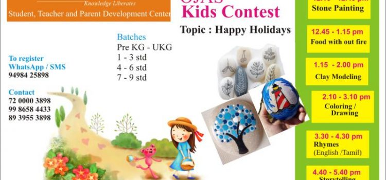 1 April 2018, Sunday Kids Contest @ Ojas Eduland