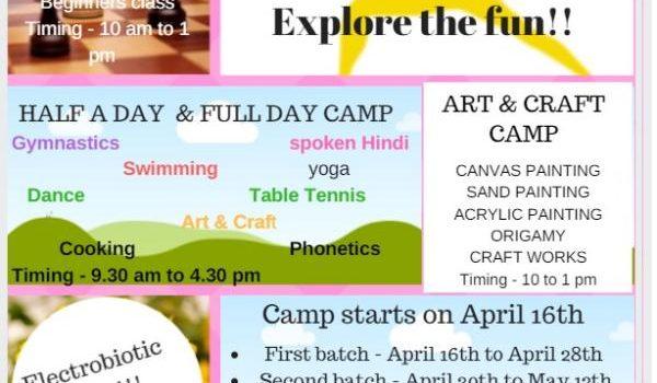 Kids Summer camp from April 16, 2018 – Ergon Activity Center