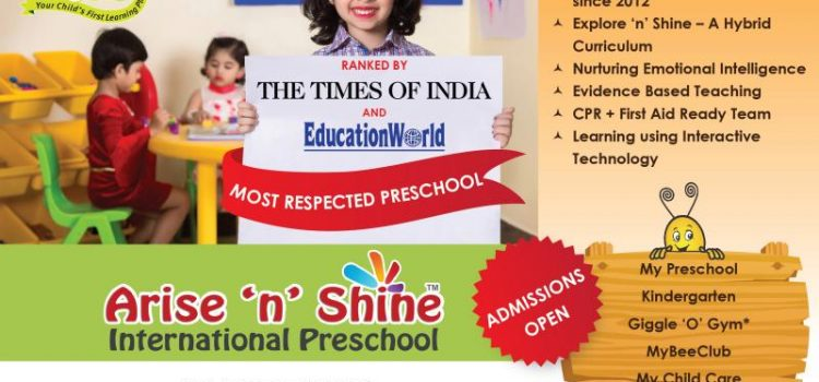 Arise 'n' Shine International Preschool Admissions Open for 2018