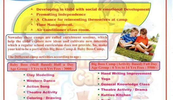 SUMMER CAMP 2018 : Big Boss Camp & Baby Boss Camp