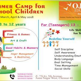 Life Skills Program Summer Camp for School children @ Ojas Eduland