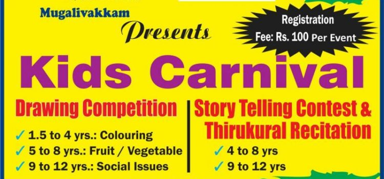 Drawing Competition, Story Telling and Thirukkural recitation at TIME Kids
