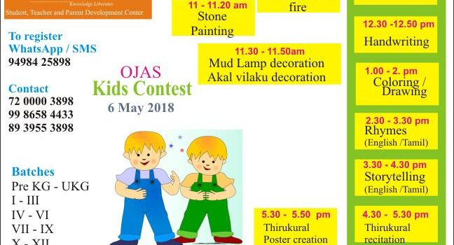 Children's Competition on 6th May 2018 at Ojas Eduland